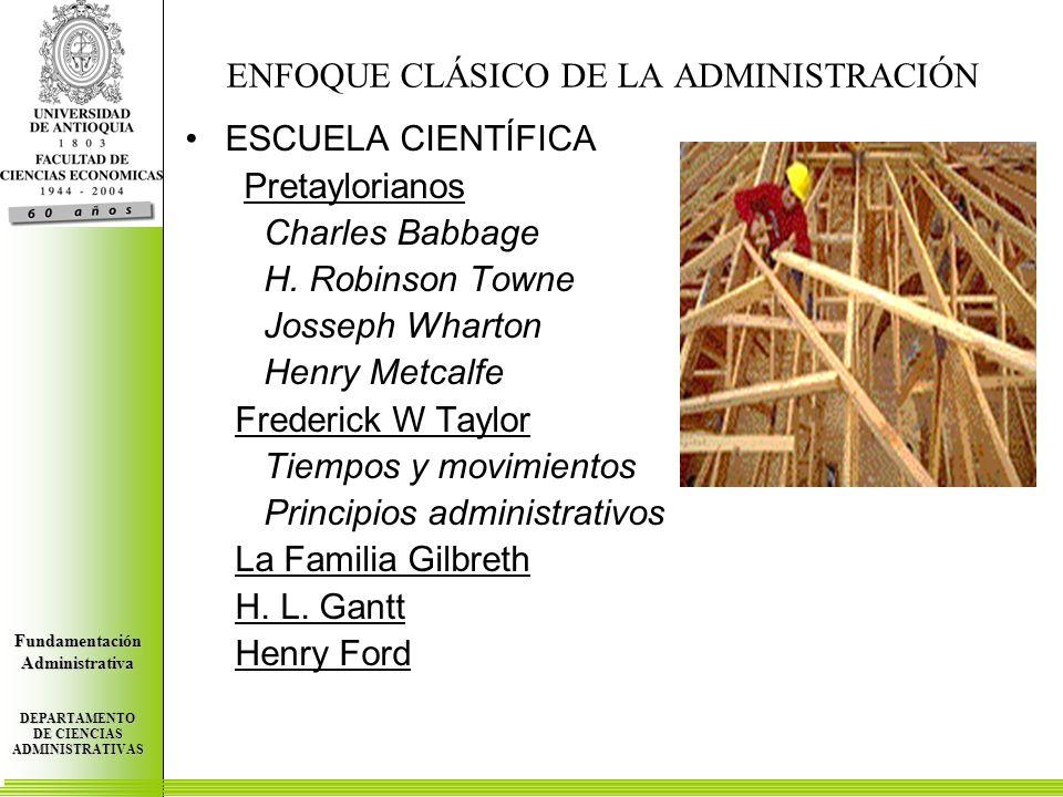 Centro de Investigaciones Económicas FundamentaciónAdministrativa DEPARTAMENTO DE CIENCIAS ADMINISTRATIVAS Centro de Investigaciones Económicas FundamentaciónAdministrativa DEPARTAMENTO DE CIENCIAS ADMINISTRATIVAS Centro de Investigaciones Económicas FundamentaciónAdministrativa DEPARTAMENTO DE CIENCIAS ADMINISTRATIVAS ADMINISTRACIÓN INDUSTRIAL Y GENERAL (HENRI FAYOL) FUNCIONES Técnicas (Producción, Manufactura) Comerciales (Comprar, Vender, Intercambio) Financieras (Fuente y uso de fondos) Contables (Registros, estadísticas) De Seguridad (Del Personal, planta y equipo) Administrativas (Planeación Organización, Dirección, Coordinación y Control) 14 PRINCIPIOS