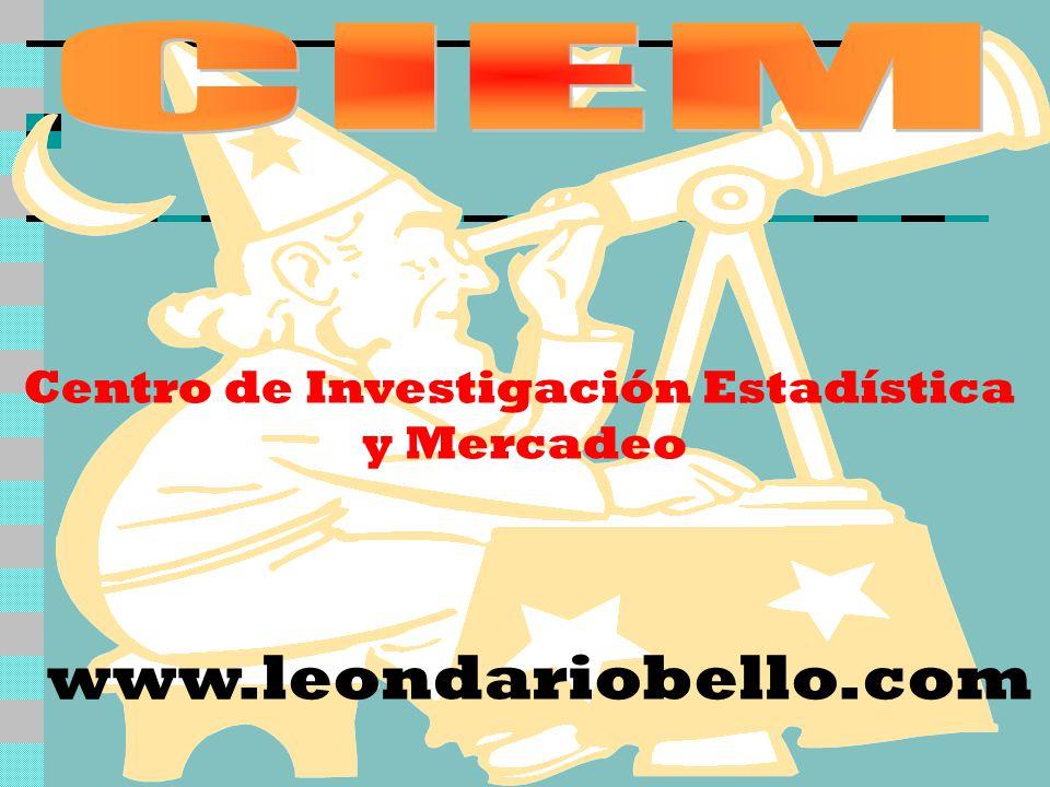 Centro de Investigación Estadística y Mercadeo www.leondariobello.com