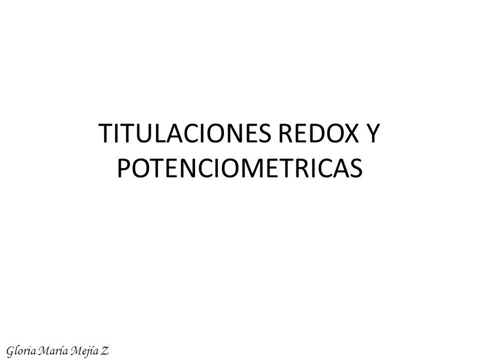TITULACIONES REDOX Y POTENCIOMETRICAS Gloria María Mejía Z