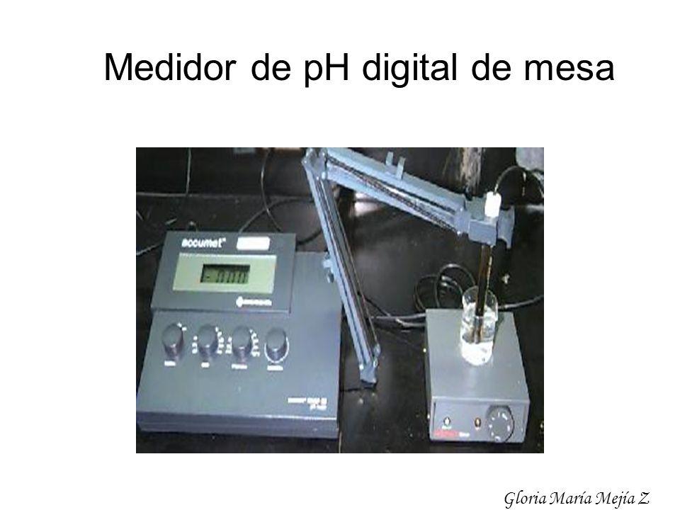 Medidor de pH digital de mesa Gloria María Mejía Z
