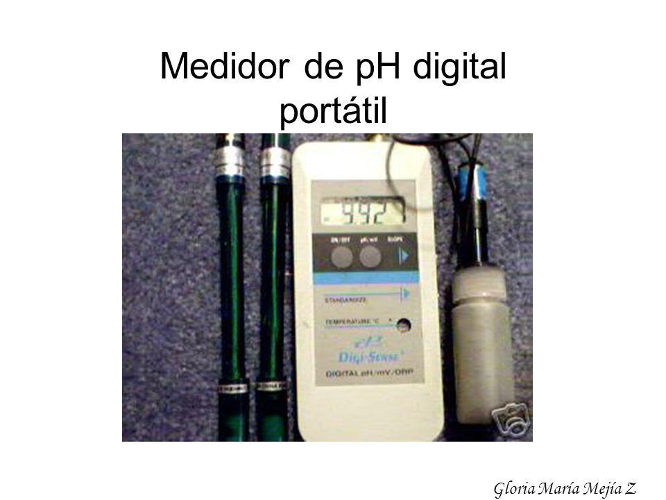 Medidor de pH digital portátil Gloria María Mejía Z