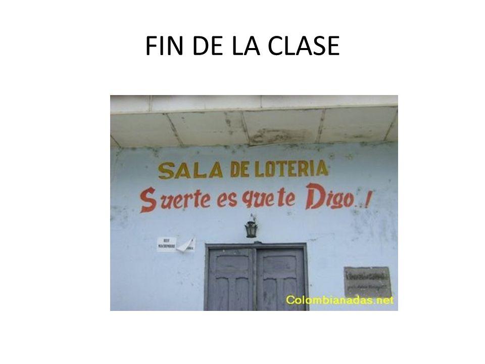 FIN DE LA CLASE