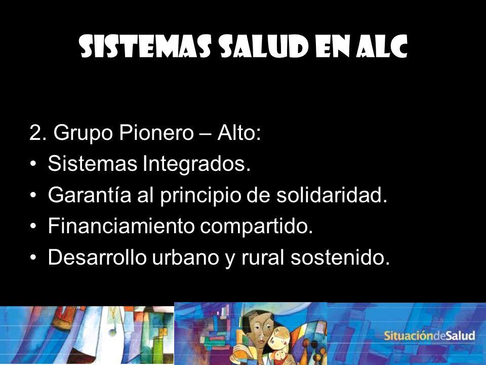 2.Grupo Pionero – Alto: Sistemas Integrados. Garantía al principio de solidaridad.