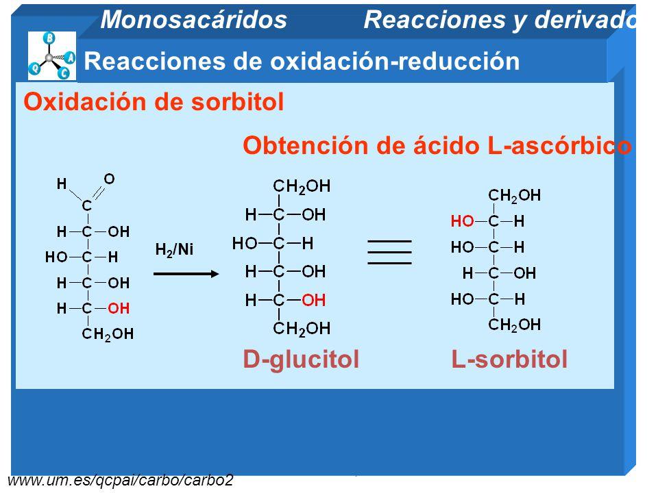 11/06/2014 Gloria Maria Mejia Z. 82 www.fq.uh.cu/dpto/qo/organicaII Reacciones de oxidación-reducción Monosacáridos Reacciones y derivados Obtención d