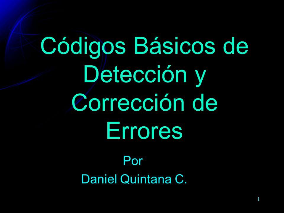 1 Códigos Básicos de Detección y Corrección de Errores Por Daniel Quintana C.