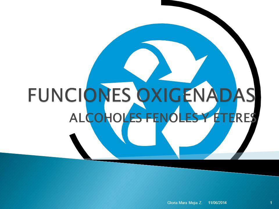 Alcoholes insaturados Grupo –OH toma precedencia.Use el nombre del alqueno o alquino.