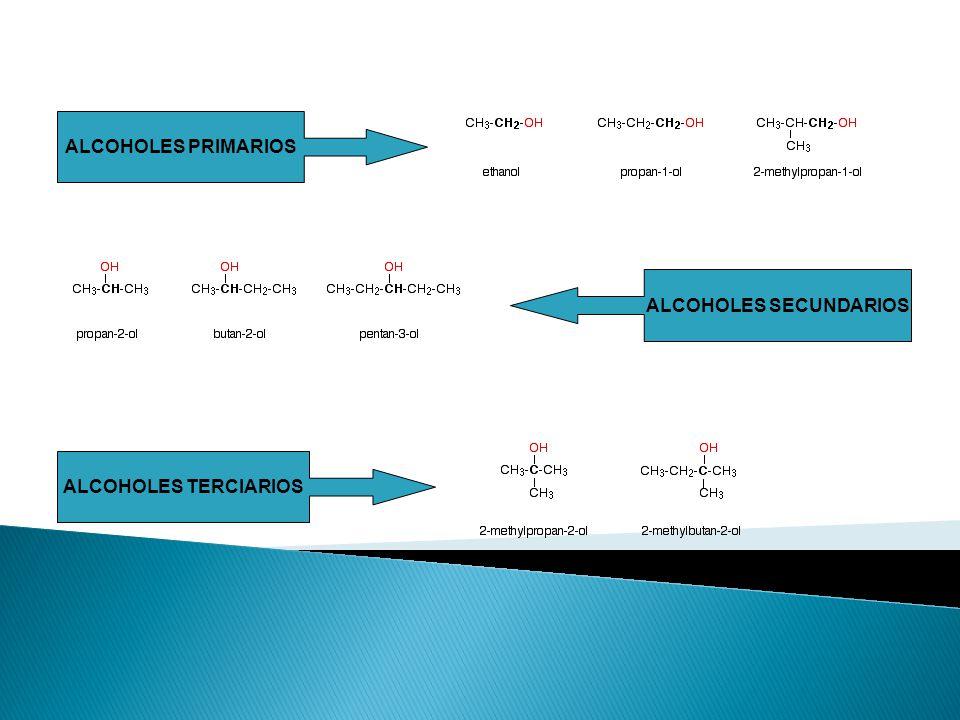 Alcoholes insaturados Grupo –OH toma precedencia. Use el nombre del alqueno o alquino. 4-penten-2-ol =>