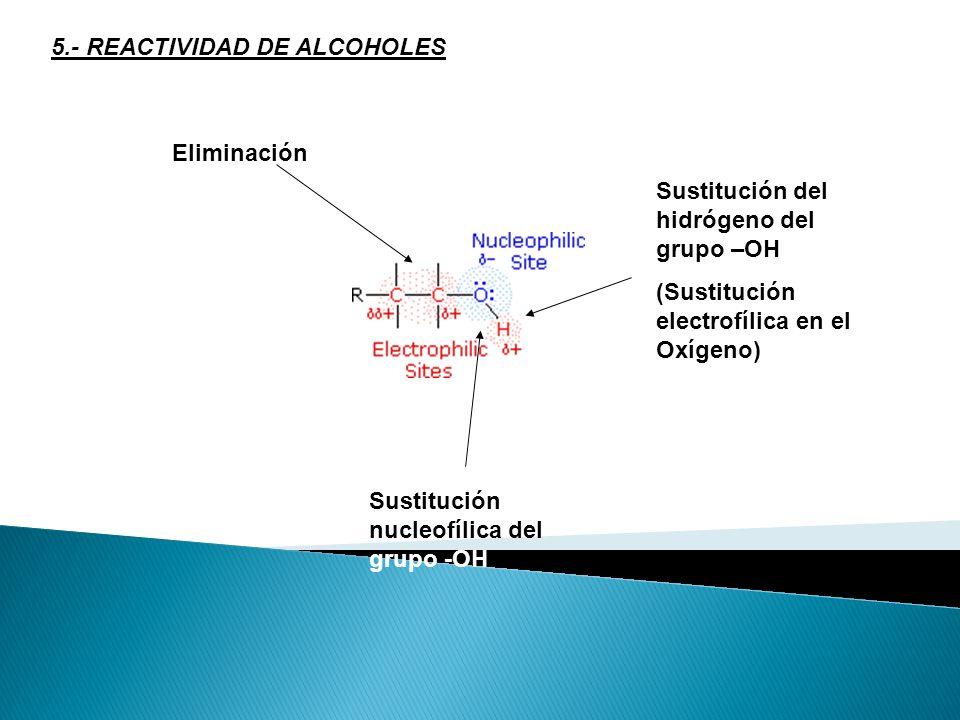 4.2.- PREPARACIÓN DE ALCOHOLES POR REDUCCIÓN DE COMPUESTOS CARBONÍLICOS En los diferentes compuestos orgánicos el carbono posee un estado de oxidación