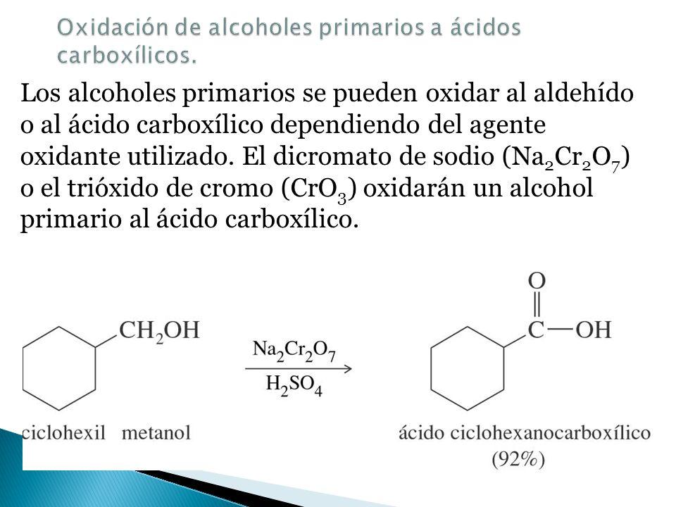 En química orgánica el aumento del número de enlaces con el oxígeno se considera una oxidación. Los alcanos se pueden oxidar a alcoholes (1 enlace con