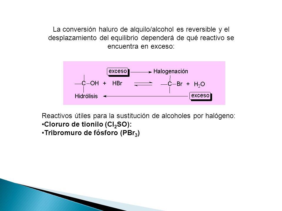 El grupo hidroxilo puede protonarse por un ácido para convertirlo en un buen grupo saliente (H 2 O). Una vez que el alcohol está protonado, puede tene