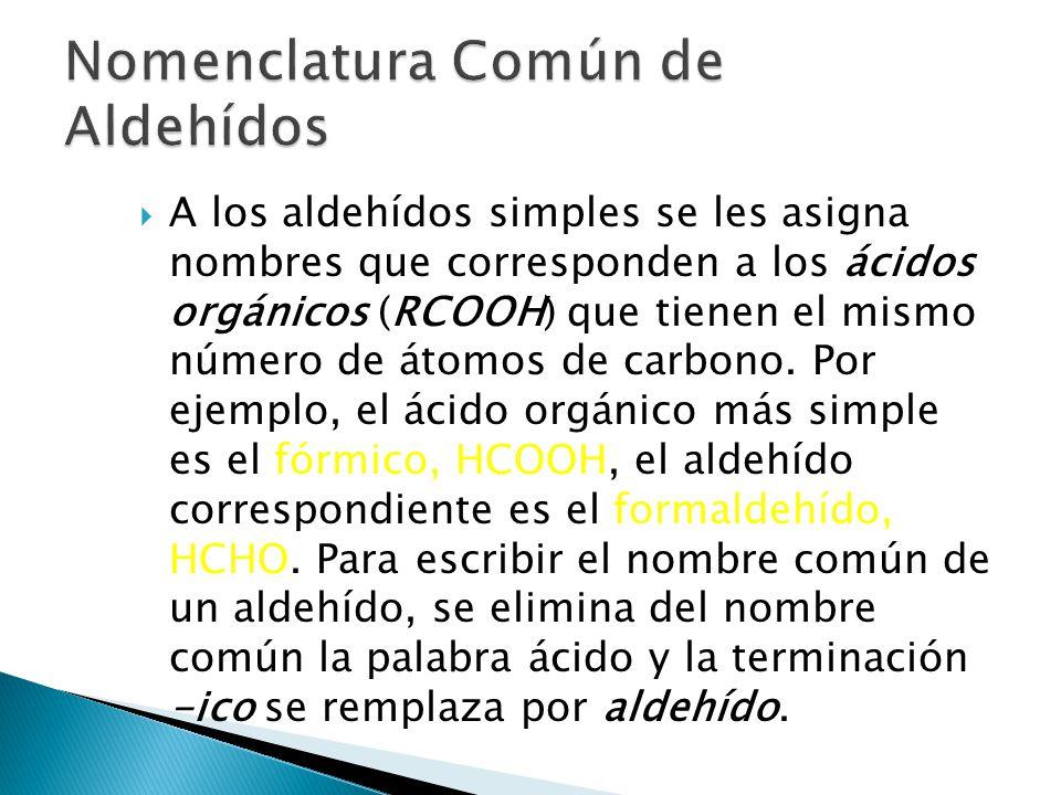 Los puntos de ebullición de aldehídos y cetonas son menores que los de los alcoholes y aminas