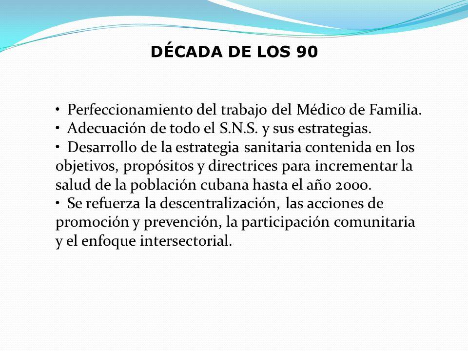 Perfeccionamiento del trabajo del Médico de Familia. Adecuación de todo el S.N.S. y sus estrategias. Desarrollo de la estrategia sanitaria contenida e