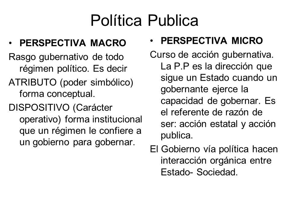 Estudio de P.P En Siglo XX científicos sociales, politólogos y sociólogos se interesan por el estudio de acción publica.