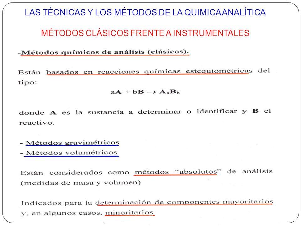 MÉTODOS CLÁSICOS FRENTE A INSTRUMENTALES