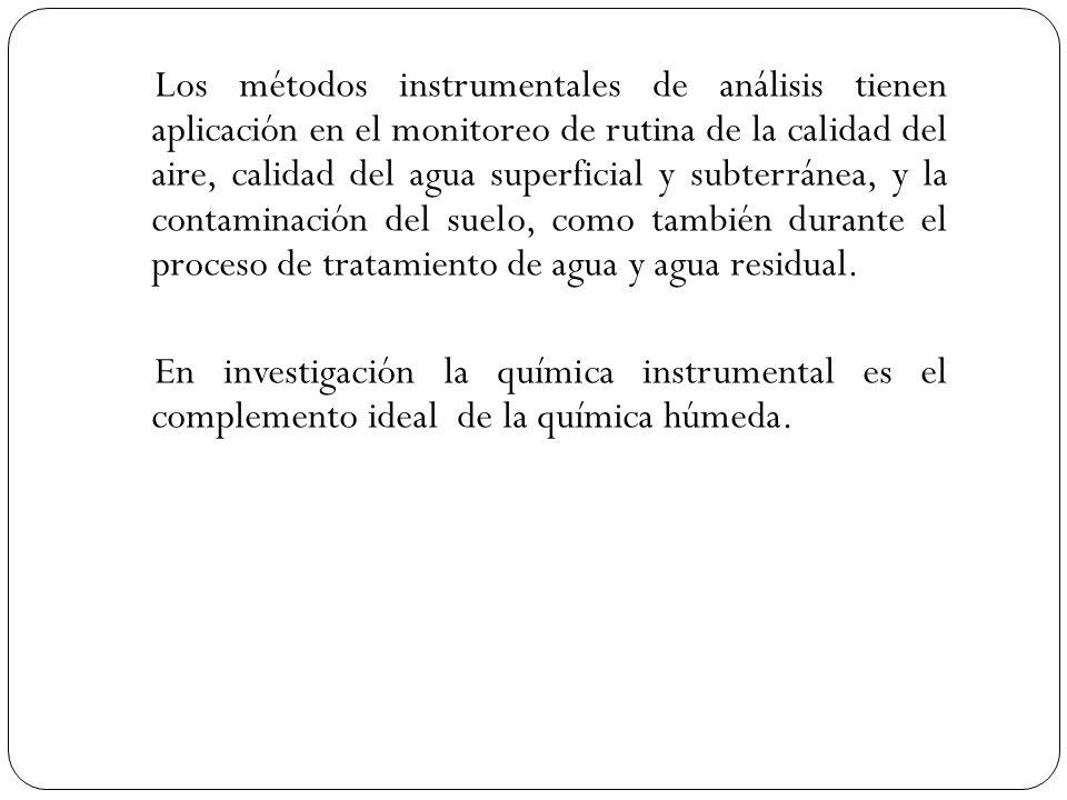 Éstos métodos han permitido que las mediciones analíticas se realicen inmediatamente en la fuente, y que el registro se practique a una distancia del sitio donde se realiza la medición.