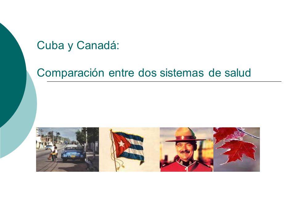 Cuba y Canadá: Comparación entre dos sistemas de salud