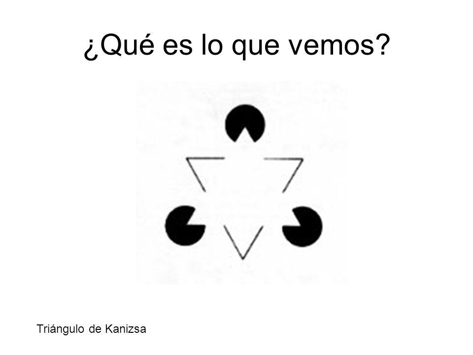 ¿Qué es lo que vemos? Triángulo de Kanizsa