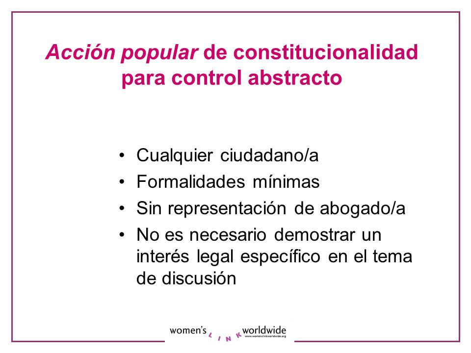 La demanda de inconstitucionalidad Petición: Declarar la constitucionalidad condicionada del art.
