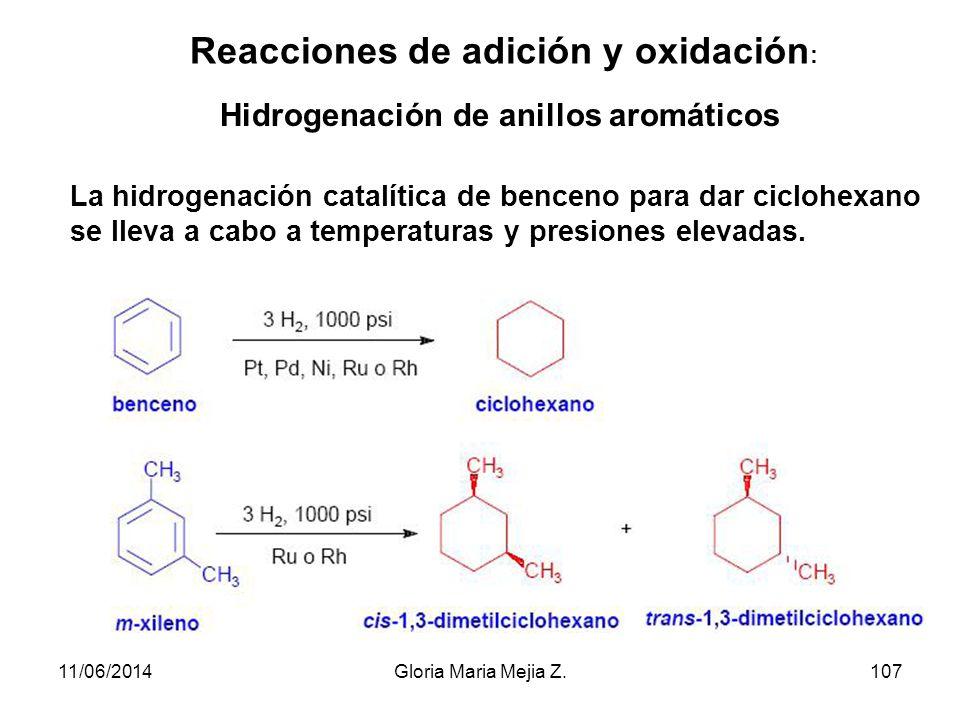 Nomenclatura de bencenos sustituidos En bencenos disustituidos, las posiciones relativas de los dos sustituyentes se indican con números o con prefijo