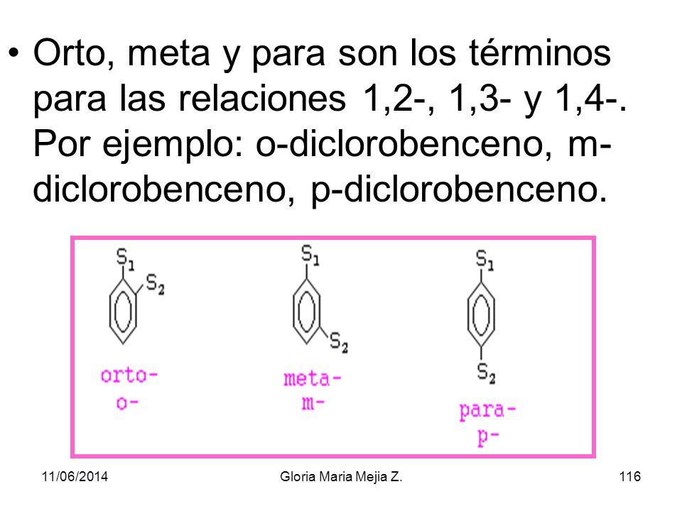 1,3,5-tribromobenceno clorobenceno etilbenceno 11/06/2014115Gloria Maria Mejia Z.