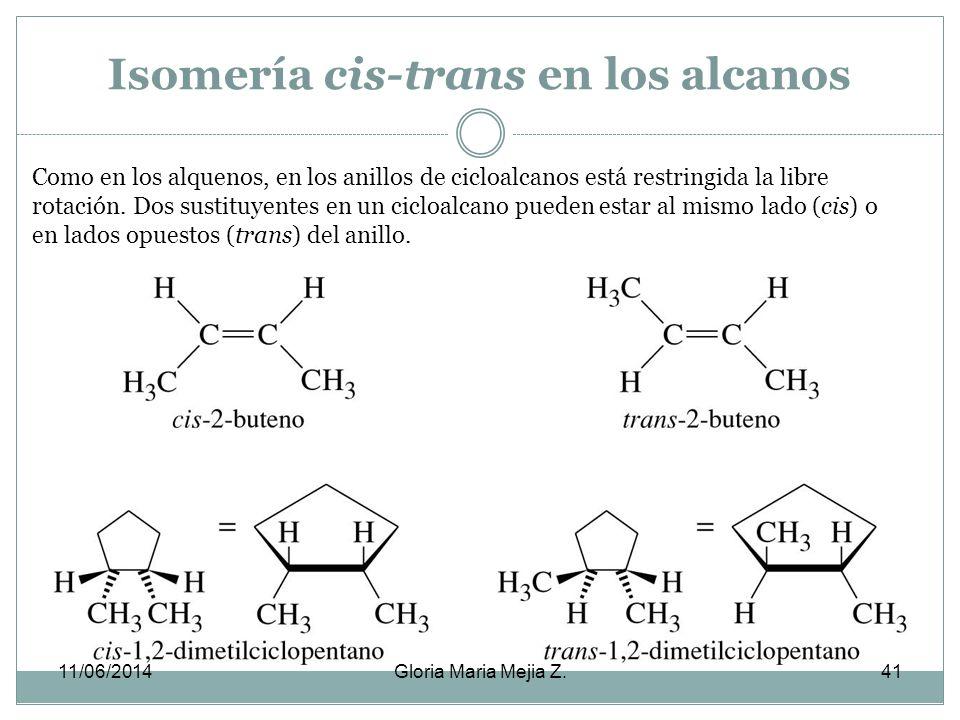 Cicloalcanos. La fórmula molecular de los alcanos es C n H 2n, dos átomos de hidrógeno menos que un alcano de cadena abierta. Sus propiedades físicas