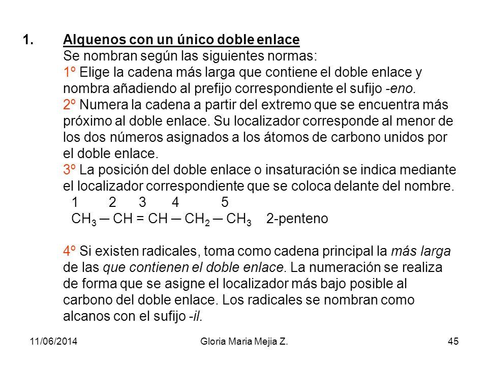 Hidrocarburos insaturados con dobles enlaces: ALQUENOS U OLEFINAS Son hidrocarburos que presentan uno o más dobles enlaces entre los átomos de carbono