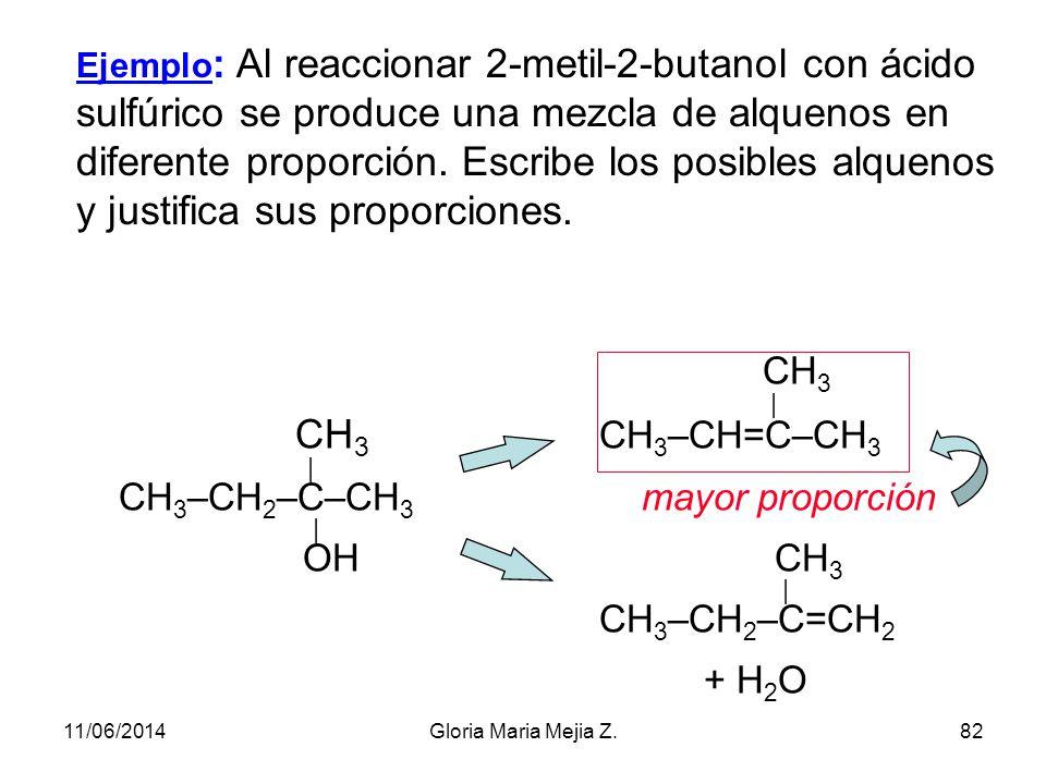 Ejemplos de reacciones de eliminación Vamos a estudiar dos casos: Deshidrohalogenación de halogenuros de alquilo. Se produce en medio básico. CH 3 –CH