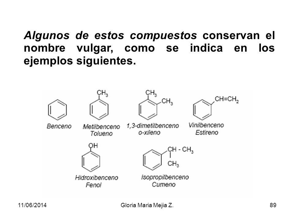 Hidrocarburos aromáticos monocíclicos El más sencillo es el benceno y todos los demás se nombran haciéndoles derivar de él. Si se trata de un derivado