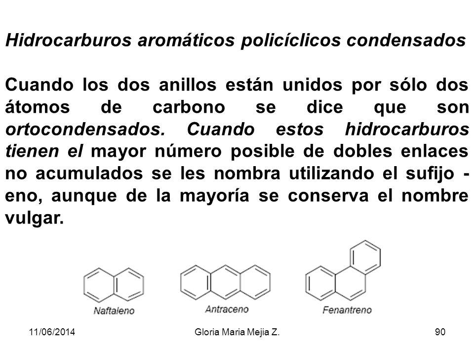Algunos de estos compuestos conservan el nombre vulgar, como se indica en los ejemplos siguientes. 11/06/201489Gloria Maria Mejia Z.