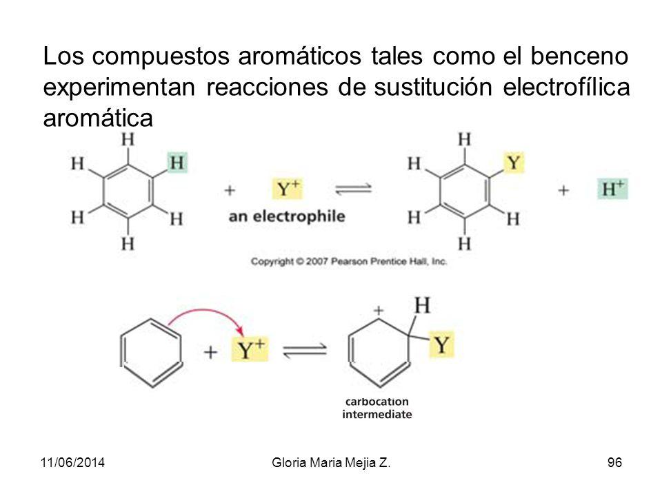 Propiedades generales 1. La serie aromática se caracteriza por una gran estabilidad debido a las múltiples formas resonantes que presenta. 2. Muestra