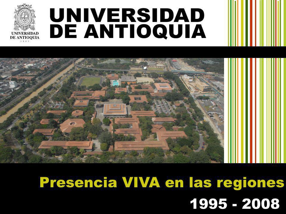 1995 - 2008 Presencia VIVA en las regiones