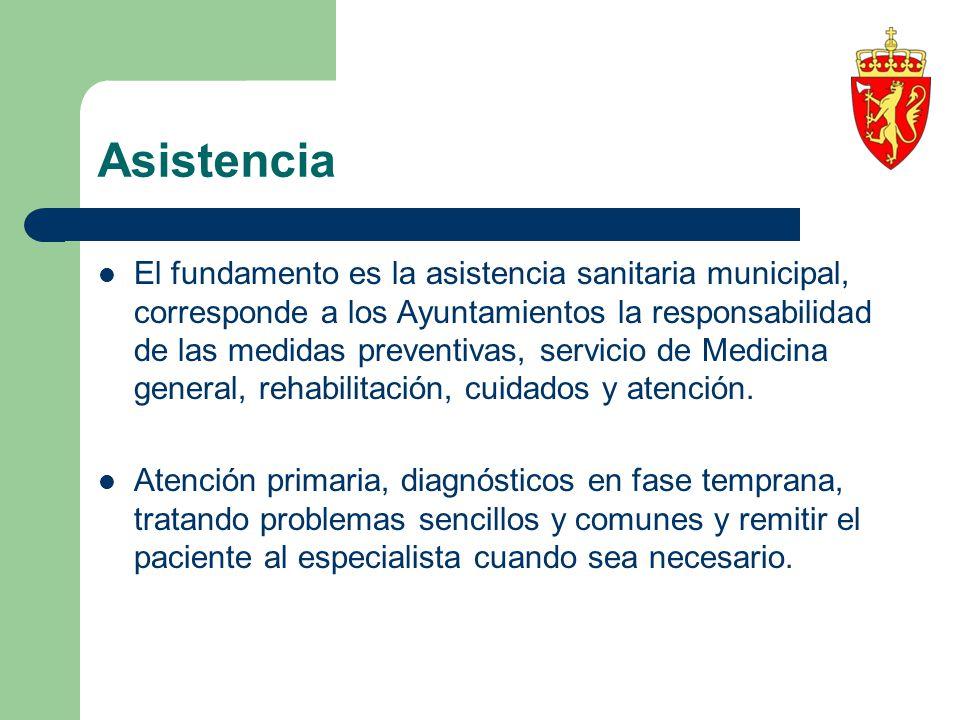 Asistencia El fundamento es la asistencia sanitaria municipal, corresponde a los Ayuntamientos la responsabilidad de las medidas preventivas, servicio