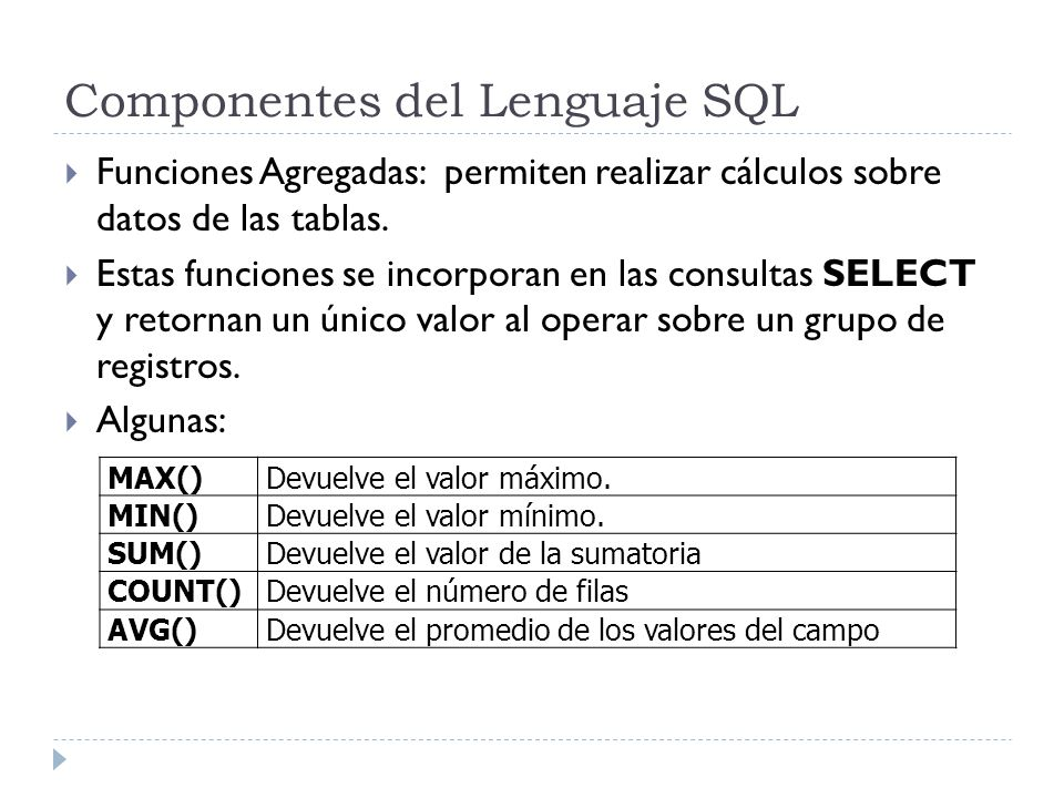 Referencias http://en.wikipedia.org/wiki/Extended_Backus%E2%80%93Nau r_Form http://en.wikipedia.org/wiki/Extended_Backus%E2%80%93Nau r_Form http://www.devjoker.com/contenidos/Tutorial-SQL http://www.exforsys.com/tutorials/oracle-10g/ http://www.orafaq.com/faq/ http://msdn.microsoft.com/en-us/library/ms941658.aspx http://www.techonthenet.com/oracle/