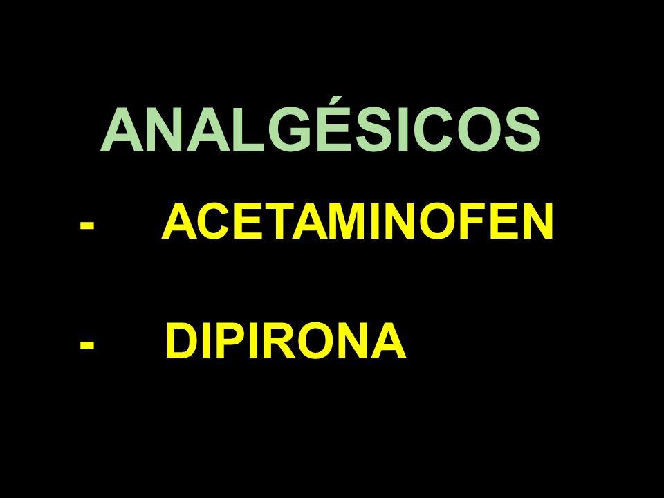 - ACETAMINOFEN - DIPIRONA