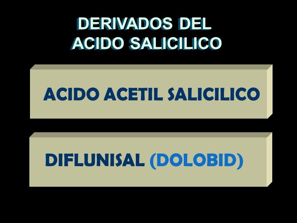 DERIVADOS DEL ACIDO SALICILICO DERIVADOS DEL ACIDO SALICILICO ACIDO ACETIL SALICILICO DIFLUNISAL (DOLOBID)