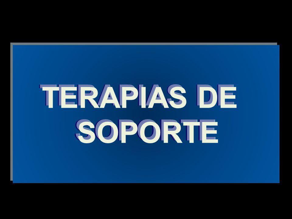 TERAPIAS DE SOPORTE TERAPIAS DE SOPORTE TERAPIAS DE SOPORTE