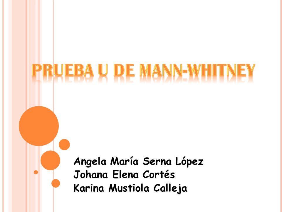 Angela María Serna López Johana Elena Cortés Karina Mustiola Calleja