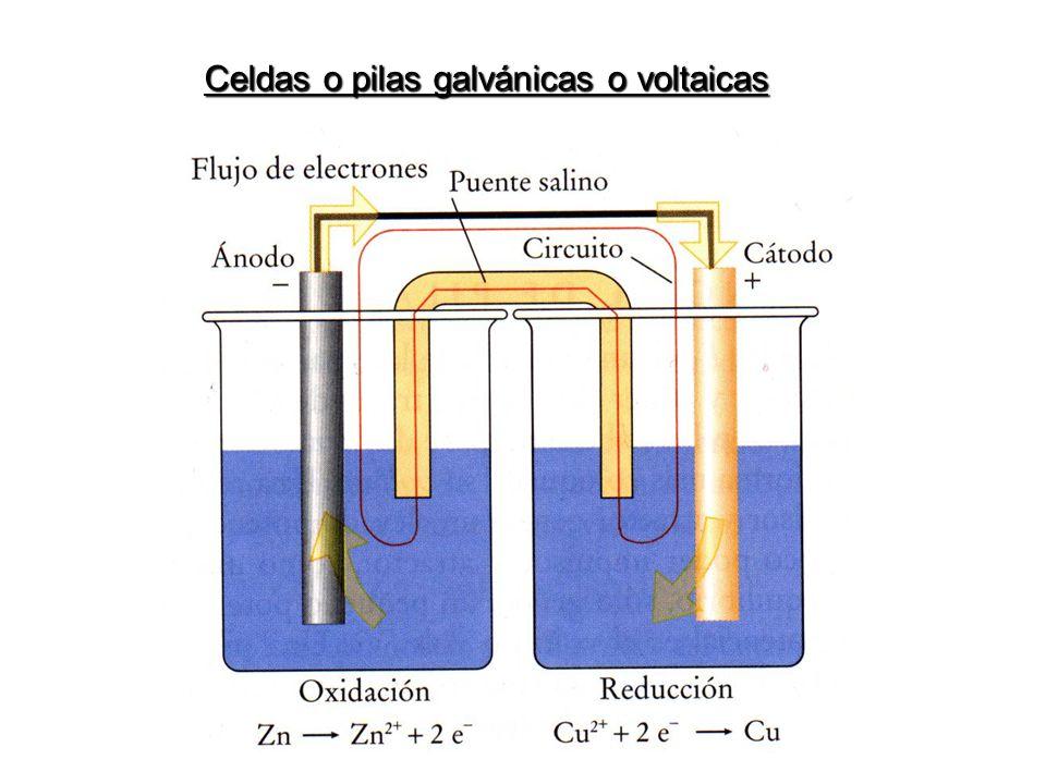 Celdas o pilas galvánicas o voltaicas