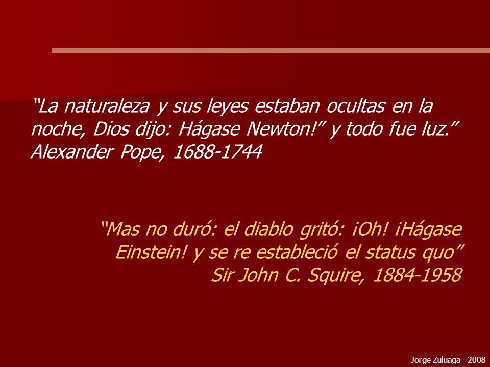 Jorge Zuluaga -2008 La naturaleza y sus leyes estaban ocultas en la noche, Dios dijo: Hágase Newton.