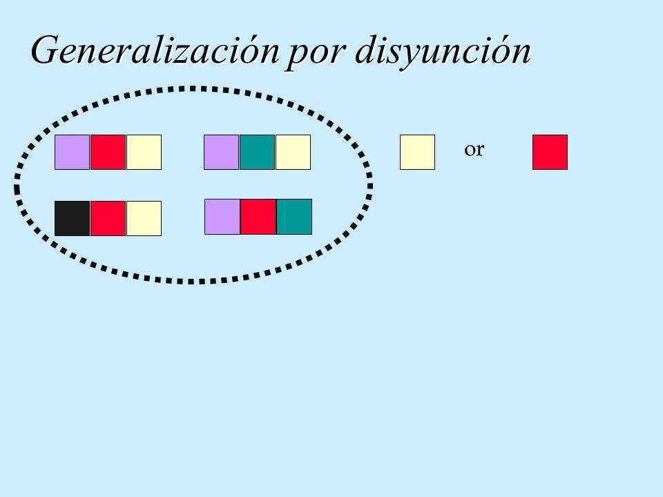 Generalización por disyunción or