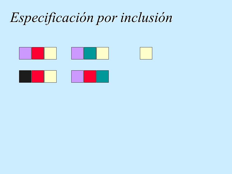 Especificación por inclusión