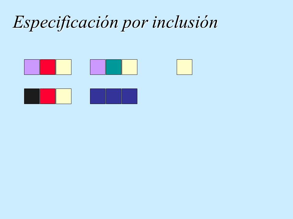 Especificación por exclusión not