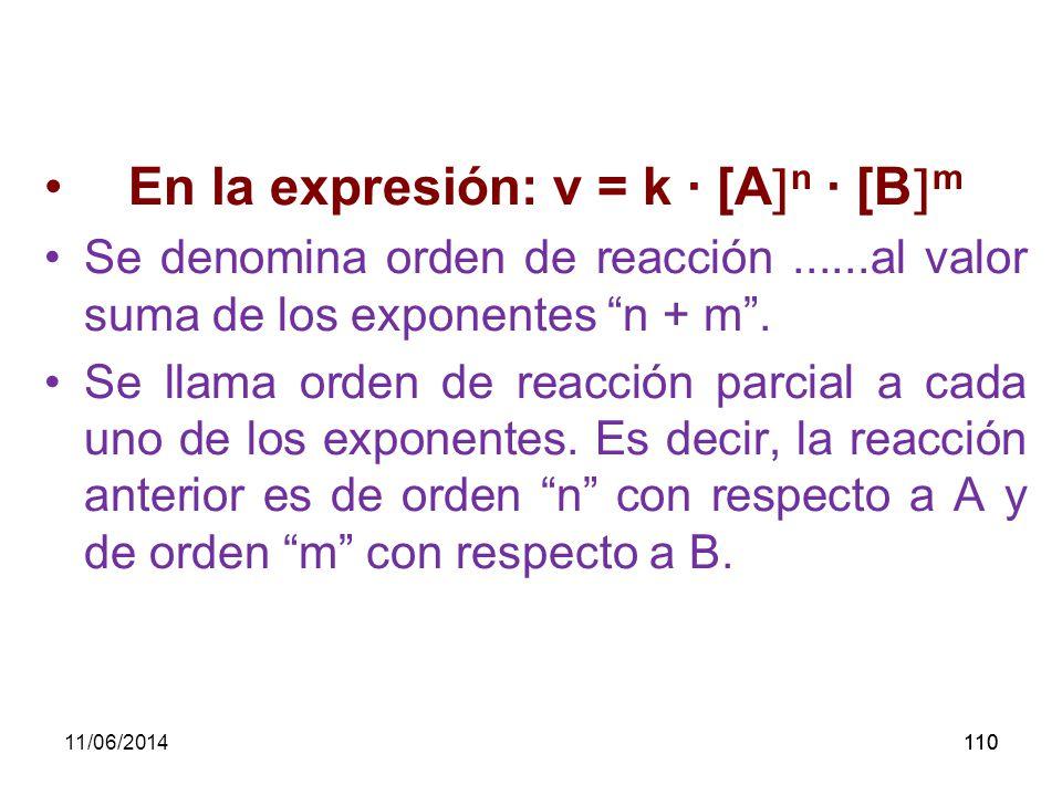 11/06/2014109 ORDEN DE UNA REACCIÓN.