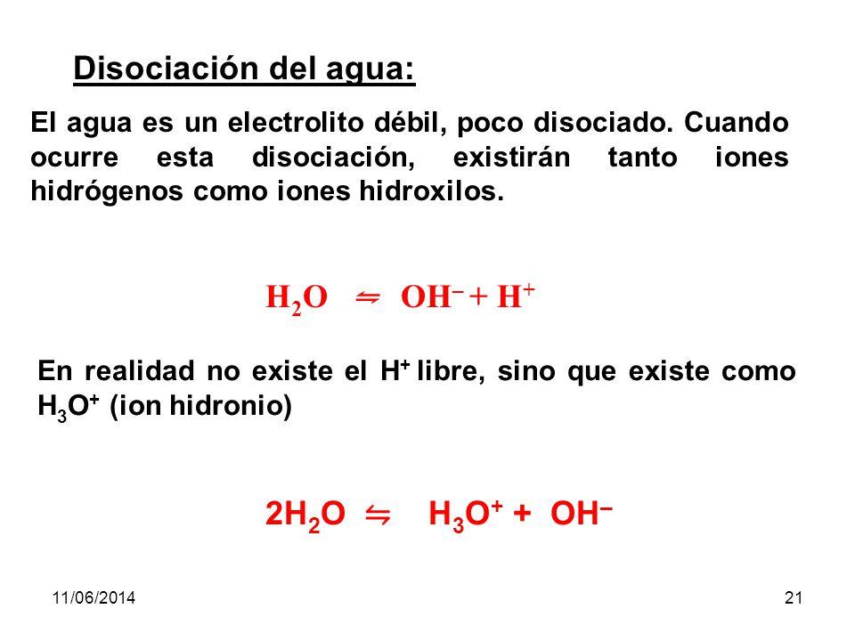 11/06/201420 Las tres etapas de disociación del ácido fosfórico son: Primera etapa: PO 4 H 3 + H 2 O H 3 O + + PO 4 H 2 – Segunda etapa: PO 4 H 2 – + H 2 O H 3 O + + PO 4 H -- Tercera etapa: PO 4 H –2 + H 2 O H 3 O + + PO 4 -3 Las constantes de disociación, para las tres etapas a 25ºC son: K 1 = PO 4 H 2 – · H + / PO 4 H 3 = 7,52 ·10 –3 K 2 = PO 4 H –2 · H + / PO 4 H 2 – = 6,23 · 10 –8 K 3 = PO 4 –3 · H + / PO 4 H –2 = 4,8 · 10 –13
