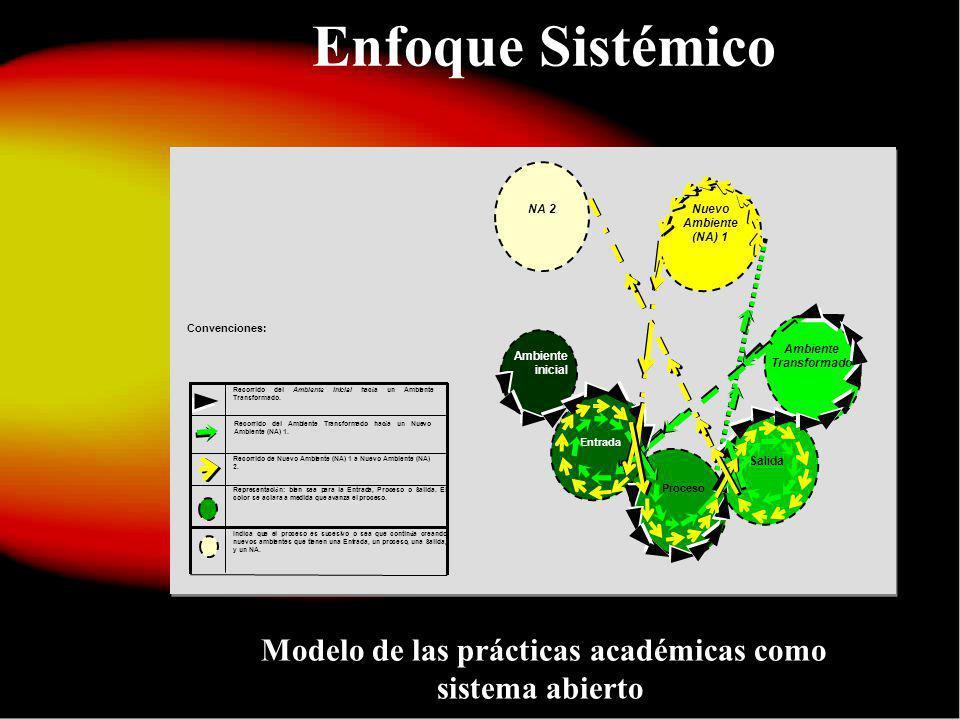 Enfoque Sistémico Modelo de las prácticas académicas como sistema abierto.