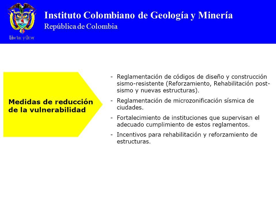Instituto Colombiano de Geología y Minería República de Colombia