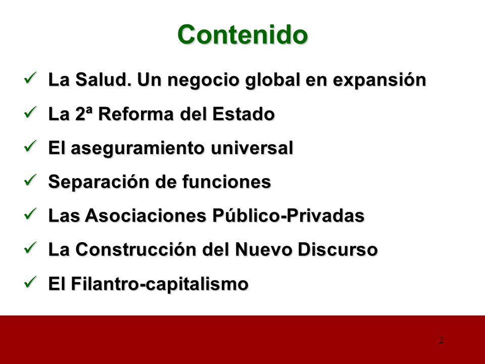2 2 Contenido La Salud. Un negocio global en expansión La Salud.