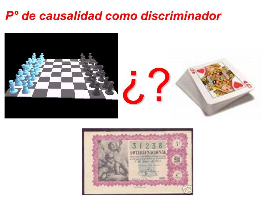 P° de causalidad como discriminador ¿ ?