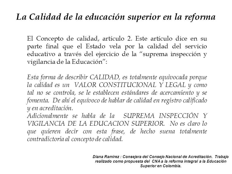 El Concepto de calidad, artículo 2.