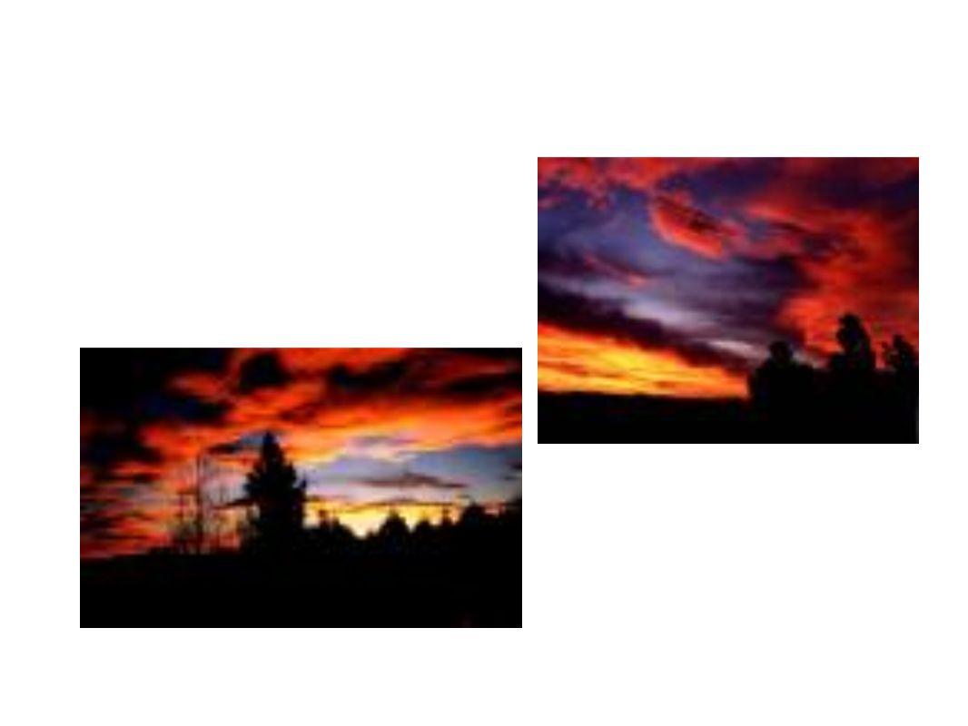 Dispersión El color del cielo se debe a la dispersión de la luz solar por la atmósfera.